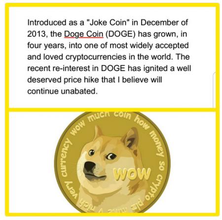ジョン・マカフィーがツイート「 Coin of the week:$DOGE 」仮想通貨ニュース速報