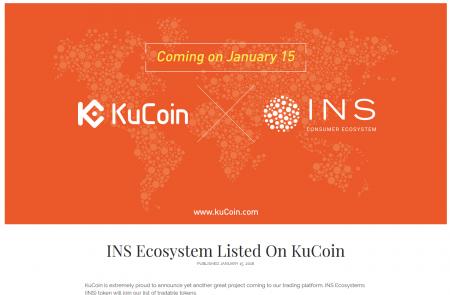 KuCoinに$INS(Ecosystem/エコシステム)が上場!ブロックチェーンで食品生産者と消費者を繋ぐ直販プラットフォーム 仮想通貨情報