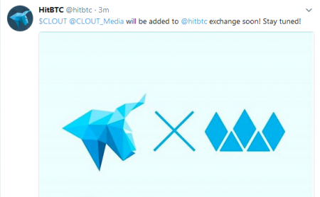 $CLOUT近日HitBTCに新規上場予定!仮想通貨ICO取引所新規上場最新情報