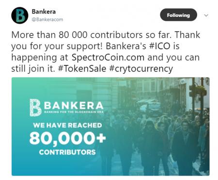 BANKERA8万人以上の支援獲得達成!SpectroCoin&BANKERA ICO最新情報