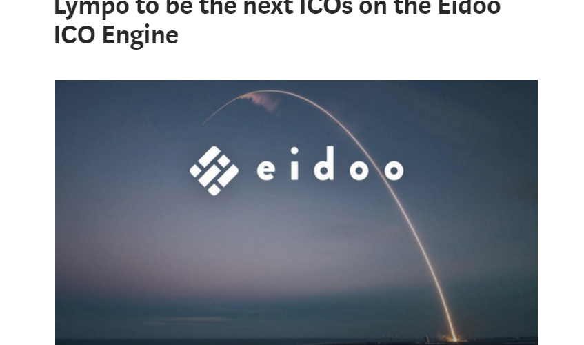 Lympo to be the next ICOs on the Eidoo ICO Engine Crypto Currency wallet news