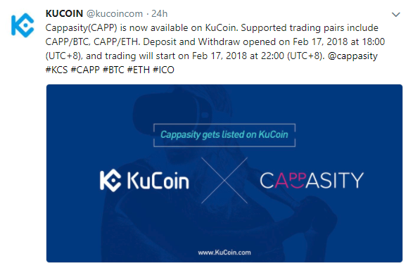 $CAPP(Cappasity/キャパシティ)KuCoinに上場!仮想通貨取引所アルトコイン新規上場最新情報$CAPP(Cappasity) was listed on KuCoin!Crypto Currency exchange altcoin new listing news