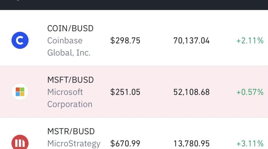 バイナンス、MSFT/BUSD Microsoft(マイクロソフト)株式トークン取扱い開始。仮想通貨取引所/暗号資産 最新ニュース 2021年4月30日